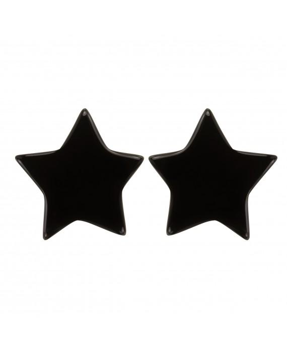 Boucles d'oreille petite étoile noire à clip - Marion Godart