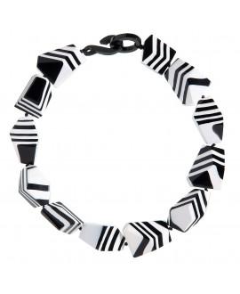 Collier Noir et blanc en résine - Marion Godart