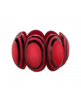 Bracelet élastique noir et rouge en résine - Marion Godart