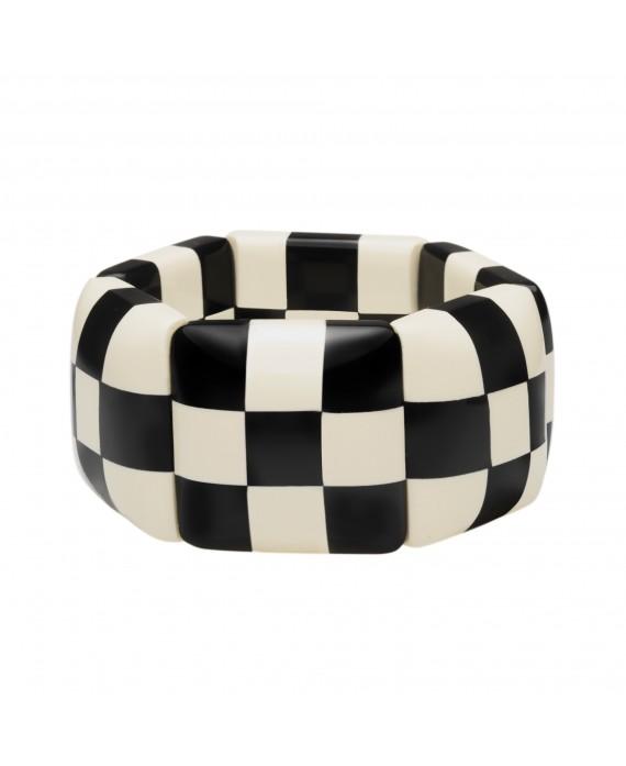 bracelet damier noir et blanc petit mod le marion godart paulie and me. Black Bedroom Furniture Sets. Home Design Ideas