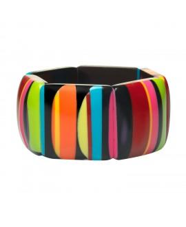 Bracelet élastique Africa Color en résine marion godart