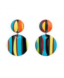 Boucles d'oreilles Africa Color en résine marion godart