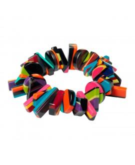 Petit bracelet élastique Africa Color en résine marion godart