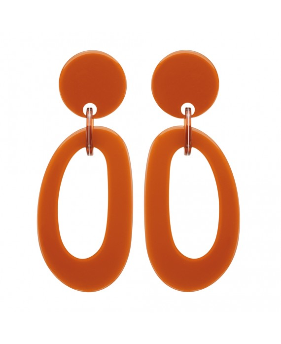 Boucles d'oreilles anneaux caramel Marion Godart