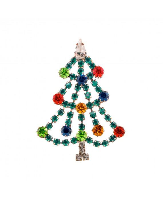 Broche Sapin de Noël Strass